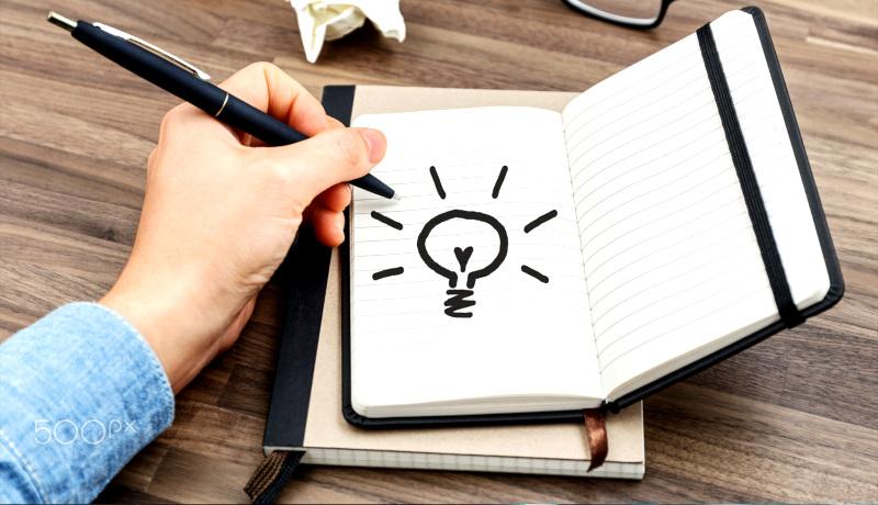 نوشتن ایده دست چپ