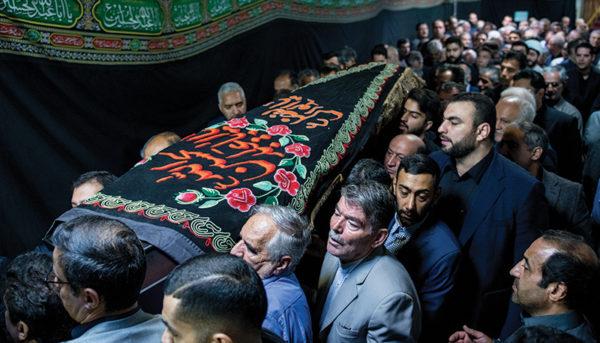 مراسم تشییع پیکر اسدالله عسگراولادی در مسجد فرشته (گزارش تصویری)