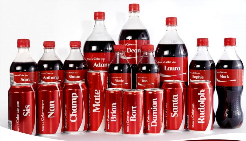کوکاکولا کمپین share a coke with