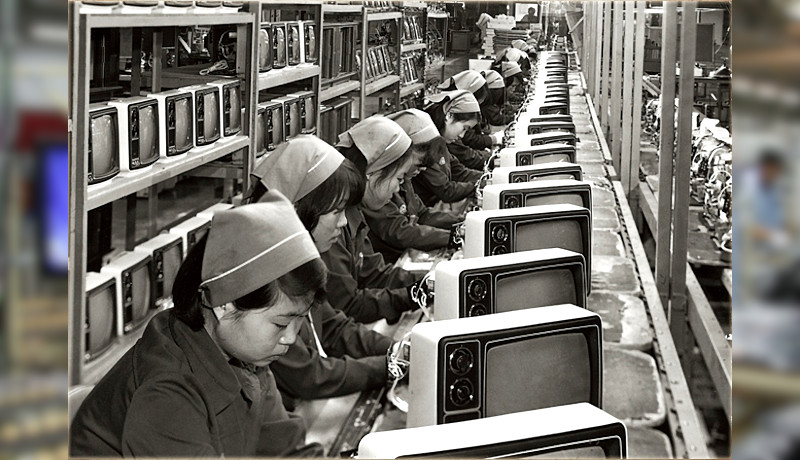 خط تولید تلویزیون سامسونگ