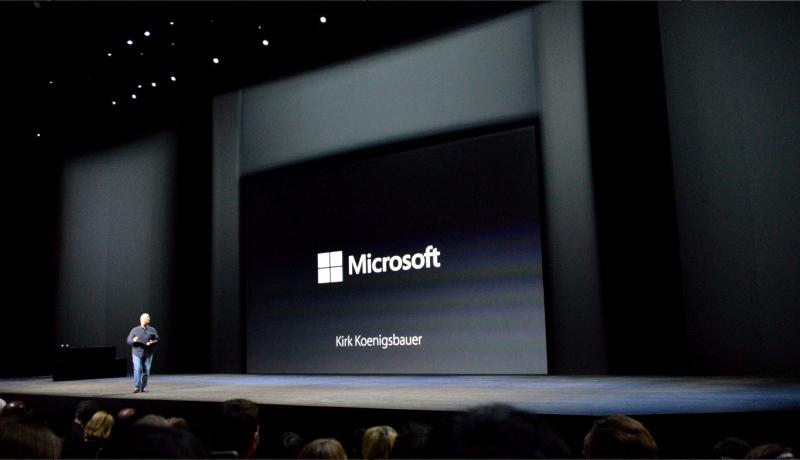 مایکروسافت در Apple Event