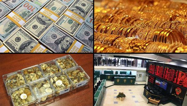 ادامه افزایش قیمت طلا، سکه و دلار / بورس از رشد بازماند