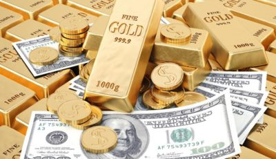 اولین قیمت دلار و طلا در شروع هفته میلادی / طلا 0.3 درصد افت کرد و دلار ثابت ماند
