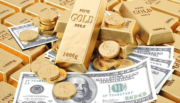 اولین قیمت دلار و طلا در شروع هفته میلادی / طلا ۰٫۳ درصد افت کرد و دلار ثابت ماند