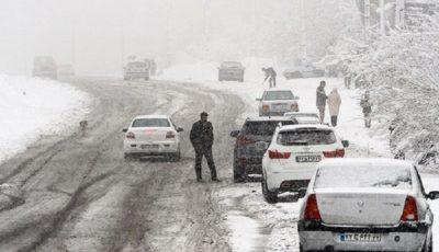 آخرین وضعیت جادهها /  بارش برف  در 9 محور