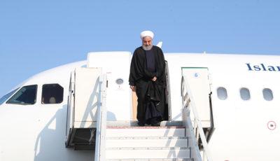 روحانی وارد اردبیل شد (گزارش تصویری)