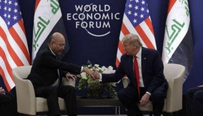 ترامپ و صالح برای بقای نیروهای آمریکایی در عراق محرمانه توافق کردند