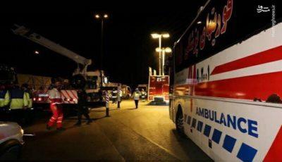 آخرین خبرها از واژگونی اتوبوس تهران-شیراز