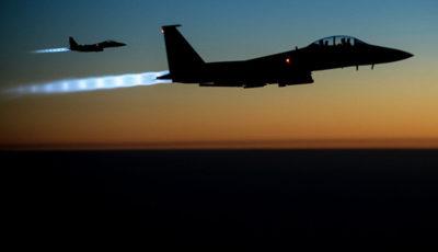 پرواز گسترده جنگندههای آمریکایی بر فراز مرز سوریه و عراق