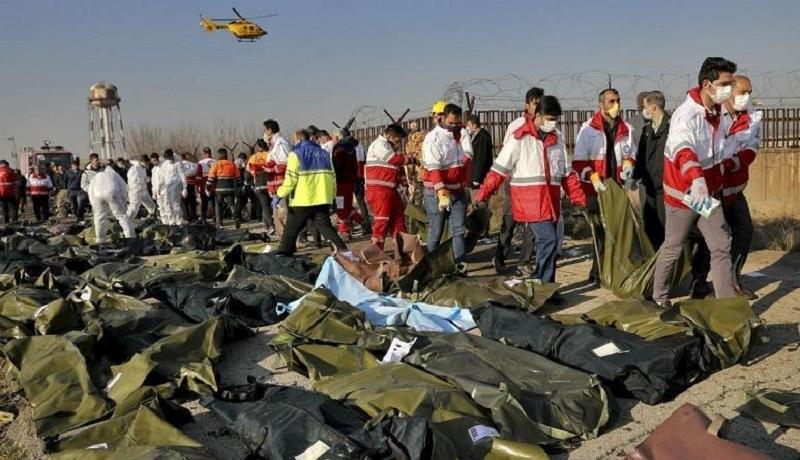 شناسایی ۱۰۰ نفر از قربانیان سقوط هواپیمای اوکراینی