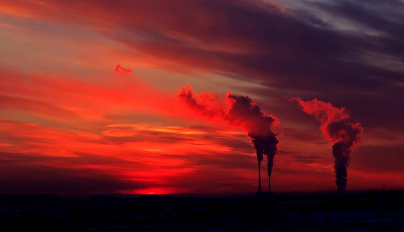 دیاکسید کربن دودکش کارخانه