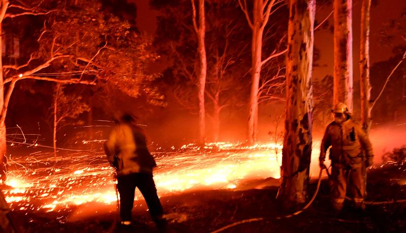شعلههای آتش آتشنشان استرالیا 2019