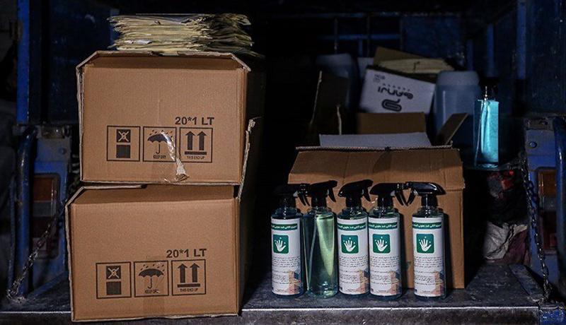 کشف کارگاه تولید مواد ضدعفونیکننده تقلبی در تهران (گزارش تصویری)