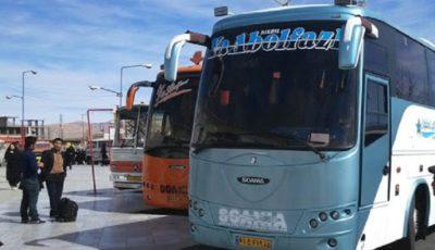 تردد اتوبوس به استانهاي شمالي كشور آزاد است