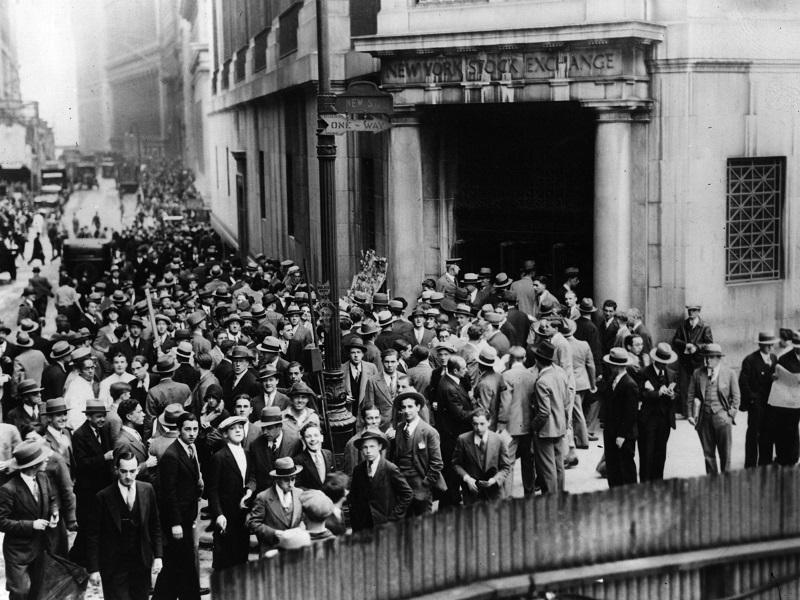 سقوط بازار سهام در آمریکا