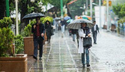 ورود سامانه بارشی به کشور/آغاز بارش های ۵ روزه در اکثر مناطق