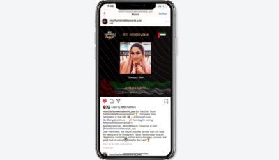 زن ایرانی کاندیدای شیکپوشترین تاجر امارات شد