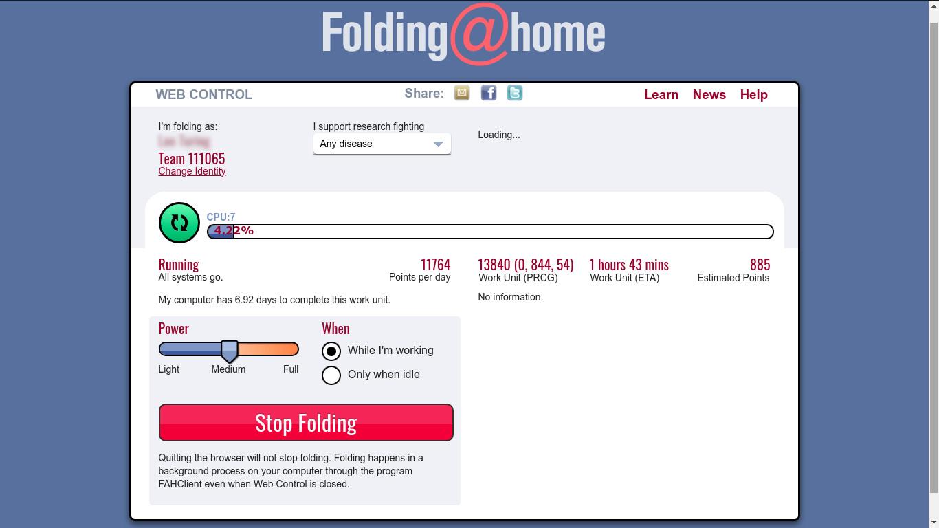 Folding@home web client