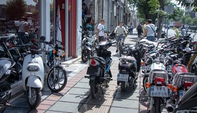 موتورسیکلت، روی مدار گرانی