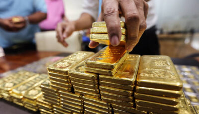 رشد ۵ دلاری قیمت طلای جهانی