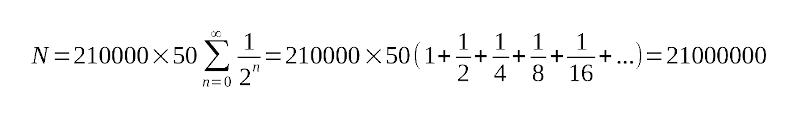 فرمول محاسبه تعداد کل بیتکوینها