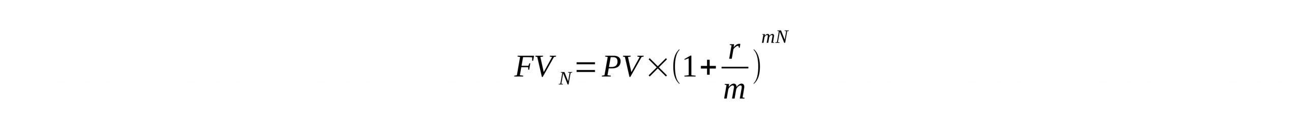 فرمول سود مرکب