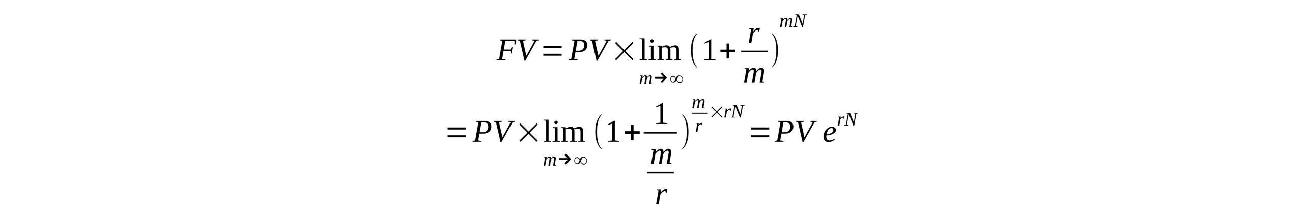 فرمول سود مرکب پیوسته