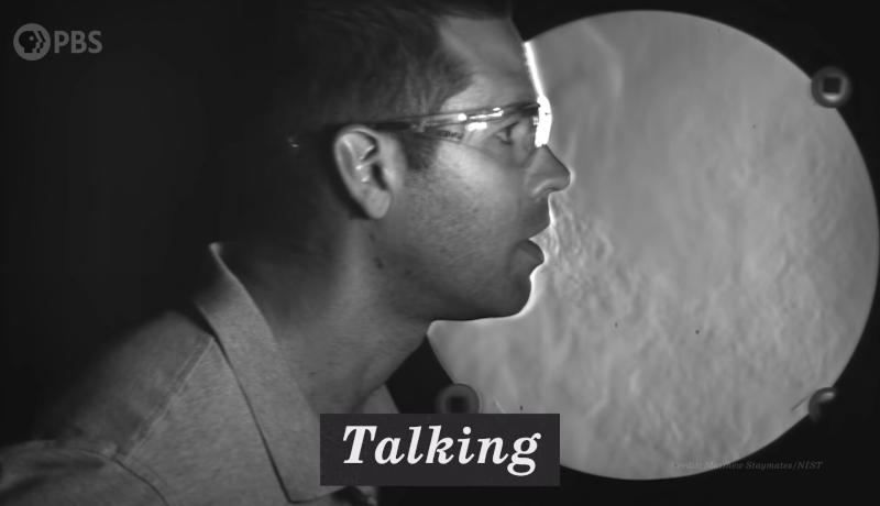 ذرات تنفسی حرف زدن
