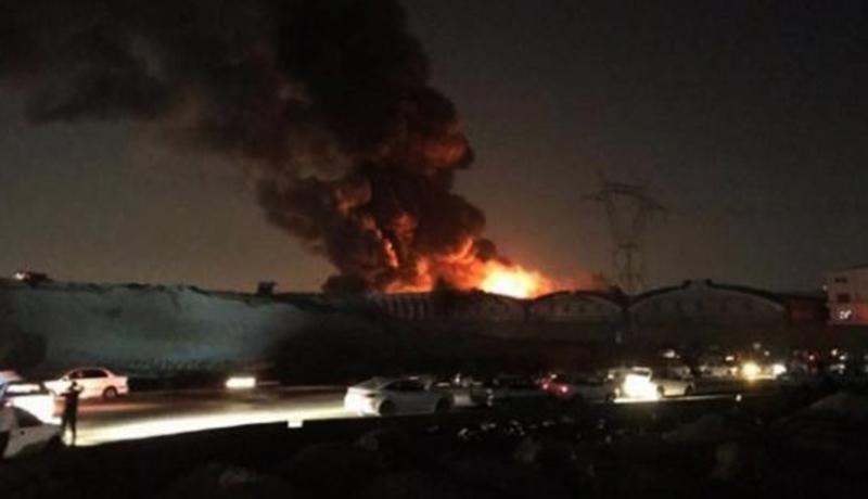 آتشسوزی در شهر لبنیات میهن اسلامشهر