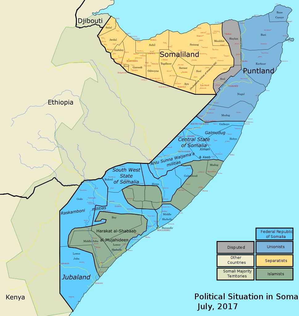 نقشه سومالی