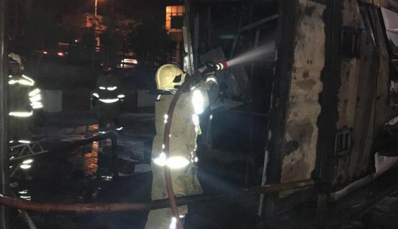آتشسوزی پمپ بنزین در پیروزی تهران