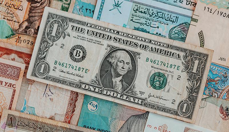 نوسانات ارزش دلار در سال 2020