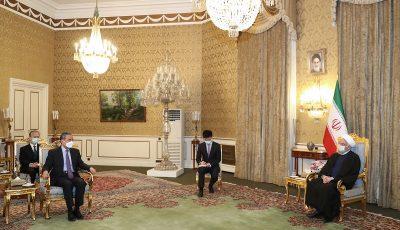 وزیر امور خارجه چین با روحانی دیدار کرد