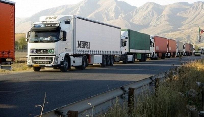 صف طولانی ۵۰۰ کامیون در مرز بازرگان