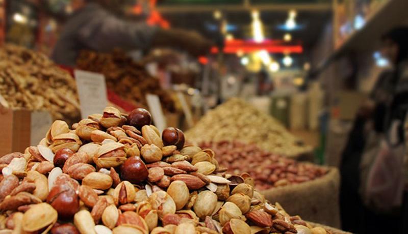 چشمانداز فروش آجیل در بازار شب عید امسال