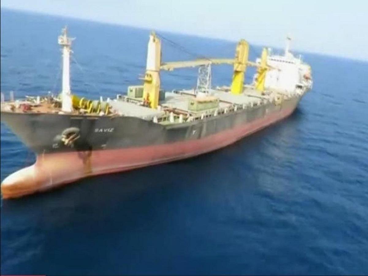 کشتی ساویز بر اثر انفجار دچار آسیب جزئی شده است