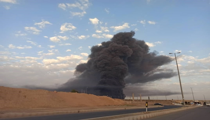 فیلم جدید از آتشسوزی مهیب در کارخانه الکل قم