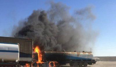 جزئیات حریق یک دستگاه تانکر سوخت در مرز ایران و افغانستان