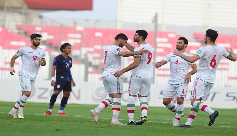 تیم ملی فوتبال ایران، کامبوج را ۱۰تایی کرد