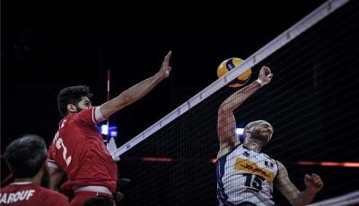 والیبال ایران در رده ششم جهان