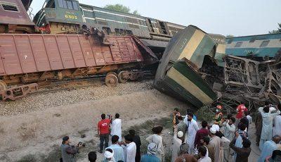 ۸۰ کشته و زخمی بر اثر تصادف قطار در پاکستان
