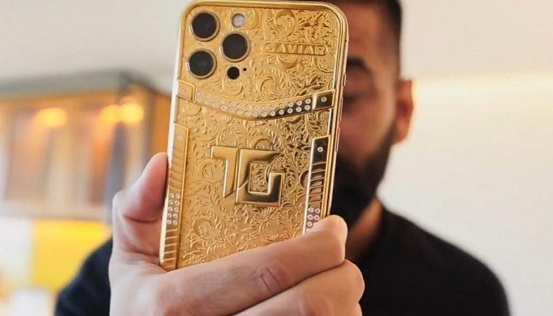 آیفون ۱۲ همقیمت پراید شد؟ / فروش موبایل با ۱۱ گرم طلای ۲۴ عیار