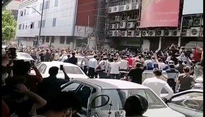 علت تجمع امروز در خیابان جمهوری چه بود؟ (فیلم)